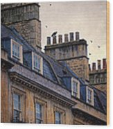 Windows And Chimneys Wood Print