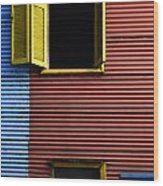 Windows And Doors Buenos Aires 16 Wood Print