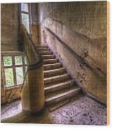 Windows And Stairs Wood Print