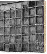 Windows Black And White Wood Print