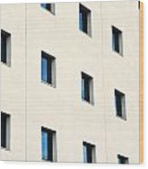 Windows In An Office Building Wood Print