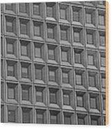 Windows In Black And White Wood Print