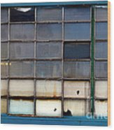 Windows In Blue Building 2 Wood Print
