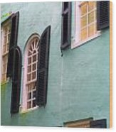 Windows In Charleston Wood Print