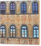 Windows In Florence Wood Print