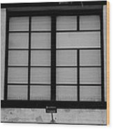 Windows Of Brooklyn In Black And White Wood Print
