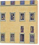 Windows Of Florence Wood Print