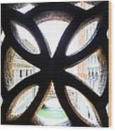 Windows Of Venice View From Palazzo Ducale Wood Print