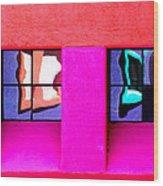 Windows Reflected Wood Print