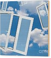 Windows To New World Wood Print