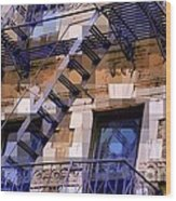 Windowscape 7 - Old Buildings Of New York City Wood Print