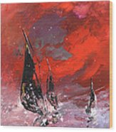 Windsurf Impression 02 Wood Print