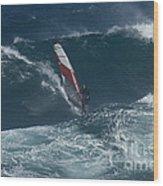 Windsurfer 2 Maui Wood Print
