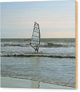 Windsurfing Wood Print by Ben and Raisa Gertsberg