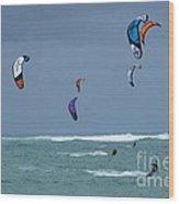 Windsurfing Hawaii Wood Print