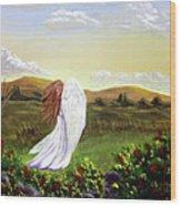 Windswept Angel Wood Print