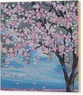 Windswept Blossoms Wood Print