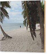 Windswept Palms Wood Print