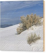 Windswept - White Sands National Monument Wood Print