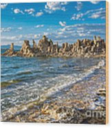 Windy Afternoon At Mono Lake Wood Print