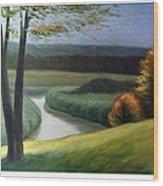 Windy Autumn Wood Print