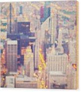 Windy City Lights - Chicago Wood Print