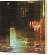 Windy City Night Wood Print