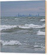 Windy City Skyline Wood Print