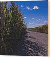 Windy Corn Wood Print