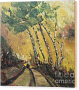 Windy Countryside Day Wood Print