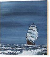 Windy Day Wood Print