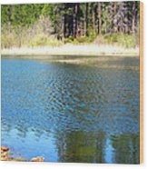 Windy Grace Lake Wood Print