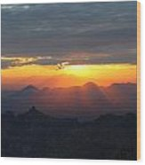 Windy Point Sunset 2 Wood Print