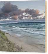 Windy Sunrise Wood Print by Thomas Pettengill