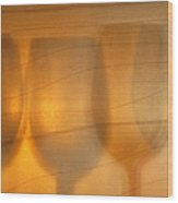 Wine Abstract Wood Print