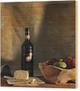 Wine And Cheese 1 Wood Print
