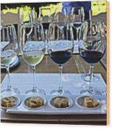Wine And Cheese Tasting Wood Print by Kurt Van Wagner