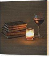 Wine And Wonder C - Square Wood Print