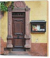 Wine Bar Door Wood Print