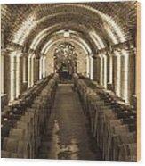 Wine Barrel Barrage Wood Print