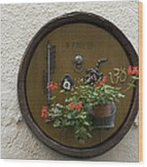Wine Barrel Decoration Wood Print