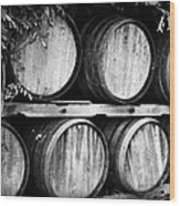 Wine Barrels Wood Print by Scott Pellegrin