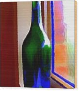 Wine Bottle Wood Print