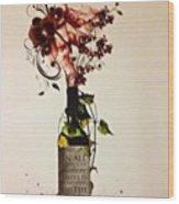 #wine #bottle #homedecor #wallart Wood Print