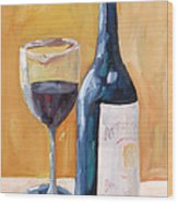 Wine Bottle Still Life Wood Print by Todd Bandy