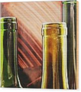 Wine Bottles 2 Wood Print