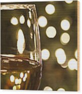 Wine By The Lights Wood Print