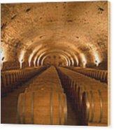 Wine Cellar Wood Print