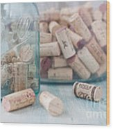 Wine Cork Collection Wood Print by Kay Pickens