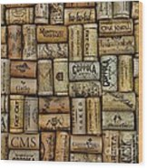 Wine Corks After The Wine Tasting Wood Print by Paul Ward